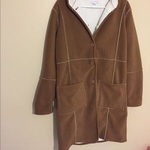 Susan graver Long brown soft sweater jacket